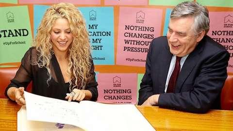 Shakira & Gordon Brown