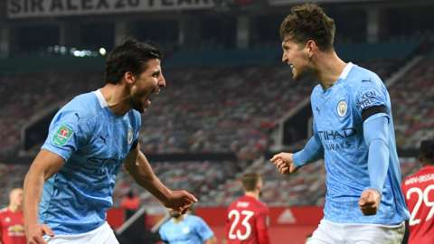 Man City celebrate goal