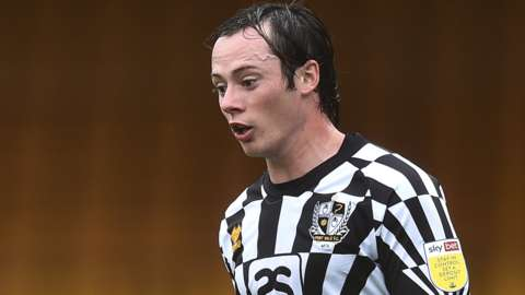 Harry McKirdy in action for Port Vale