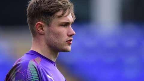 Joe Bursik in action for Peterborough