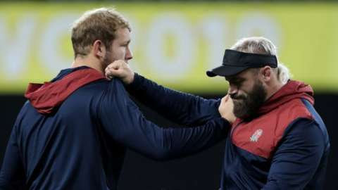 Joe Launchbury and Joe Marler