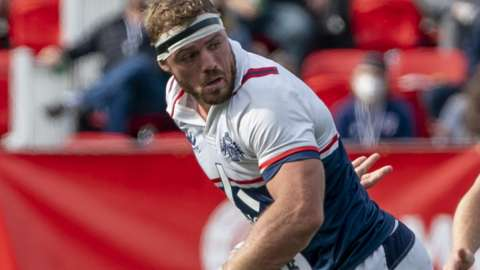 Wian Conradie in action for New England Free Jacks