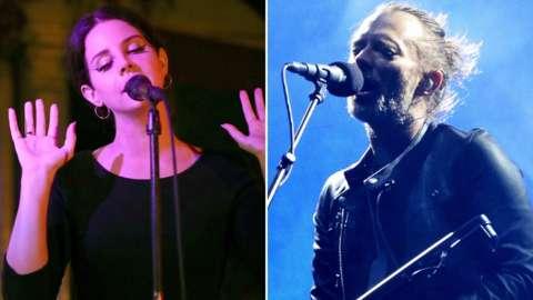 Lana Del Rey and Thom Yorke of Radiohead