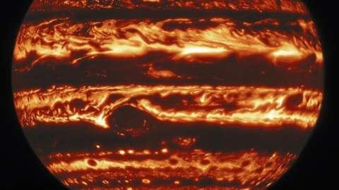 Jupiter seen in infrared light