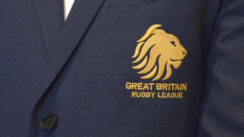 Great Britain Rugby League Lions badge on blazer