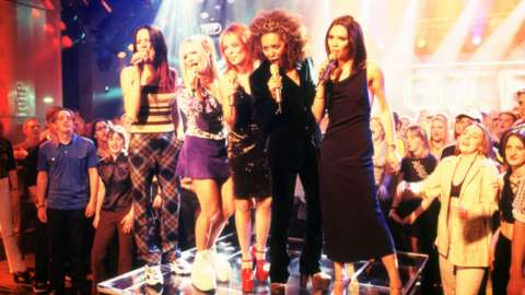 Spice Girls performing on Top of the Pops