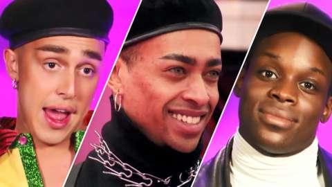 Split image of Drag Race UK contestants A'Whora, Tayce and Asttina Mandella