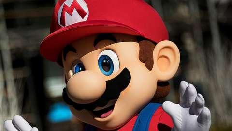 Nintendo character Mario waving