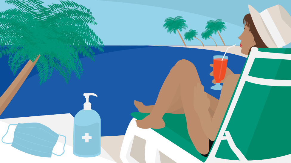 Sun bather illustration