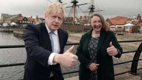 Boris Johnson and Jill Mortimer