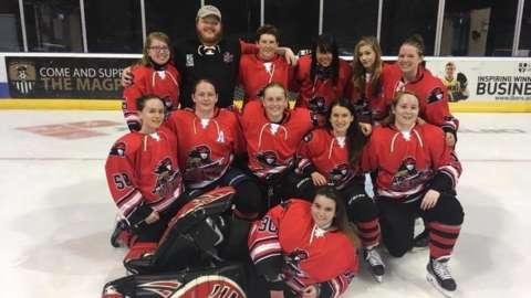 Caledonia Steel Queens ice hockey team