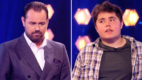 Danny Dyer and contestant on The Wall