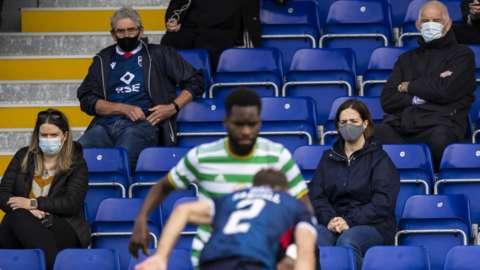 Fans attending Ross County v Celtic