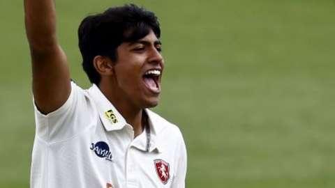 Jas Singh making his Kent debut