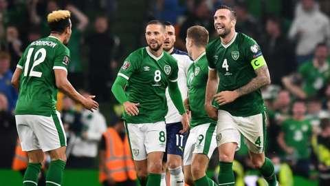 Republic of Ireland celebrate