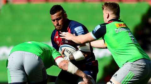 Bristol beat Harlequins in the last Premiership match completed in March