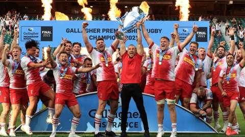 Quins win 2021 Premiership final