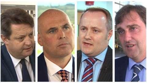 Alun Davies, Paul Davies, Darren Millar and Nick Ramsay