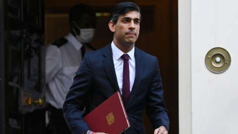 Rishi Sunak leaving 11 Downing St