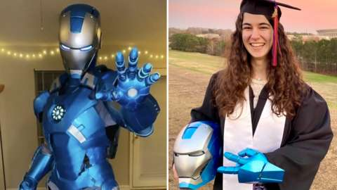 Iron Man 3D printed suit and Emily Yarid