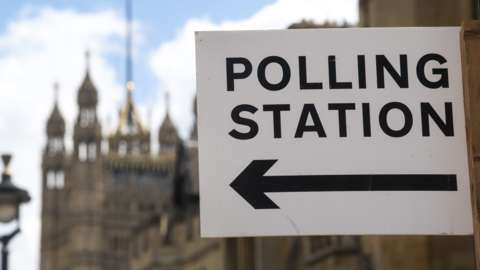 Polling station in Westminsters
