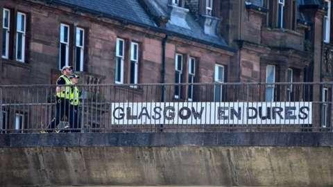 Police in Glasgow during lockdown