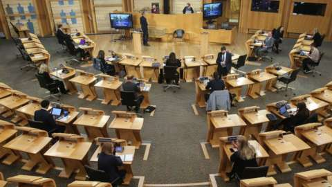 msps having induction in Holyrood chamber
