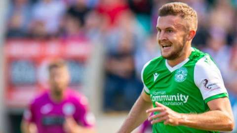 Tom James only made 13 appearances for Hibs after moving north of the border on a three-year deal in the summer of 2019