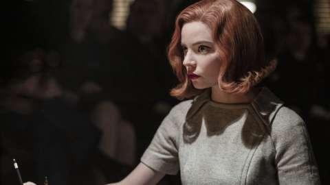 Anya Taylor-Joy as Beth Harmon in the Queen's Gambit