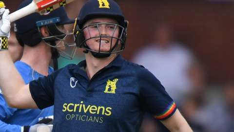 Ed Pollock hit his first One-Day Cup century for Warwickshire this summer against Derbyshire