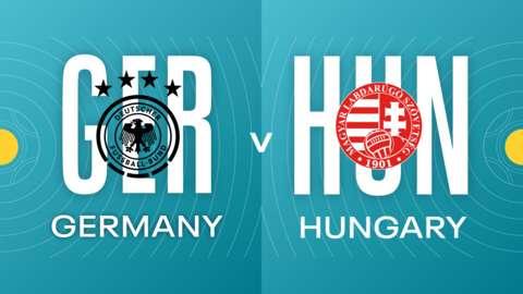 Germany v Hungary badges