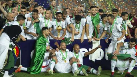 Algeria celebrate winning the 2019 Africa Cup of Nations