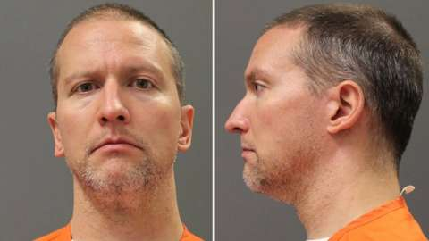 Former Minnesota police officer Derek Chauvin poses for an undated booking photograph taken after he was transferred from a county jail to a Minnesota Department of Corrections state facility