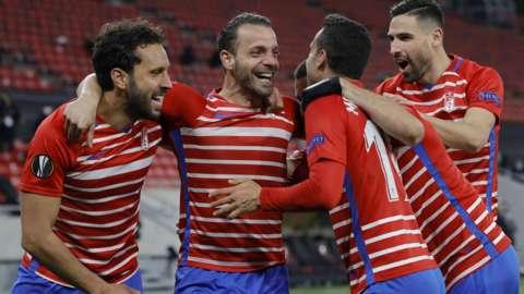 Granada players celebrate