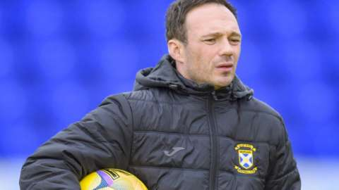 East Fife manager Derek Young