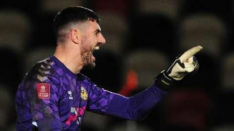 Newport County goalkeeper Tom King