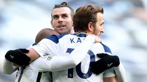 Lucas Moura, Harry Kane and Gareth Bale