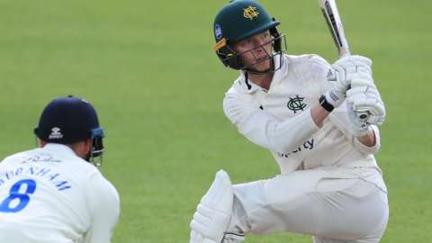 Half-centurion Lyndon James was playing in only his third match for Nottinghamshire