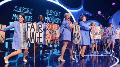 The cast of Made In Dagenham perform at Children In Need 2014