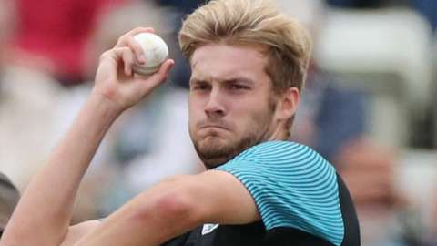 Fast bowler Adam Finch made his senior debut for Worcestershire in 2019