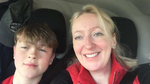 Sandra Charleton and her son Charlie