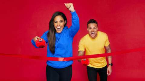 Alex Scott and Jermaine Jenas