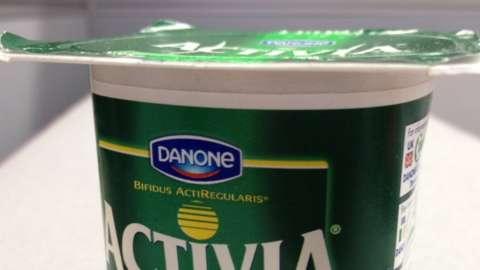 Activia green yoghurt pot