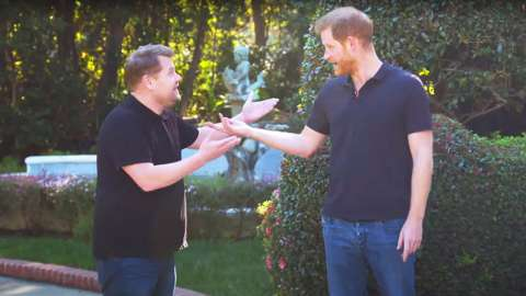 James Corden and Prince Harry