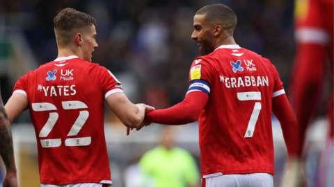 First-half scorers Ryan Yates and Lewis Grabban