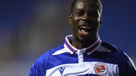 Reading striker Lucas Joao celebrates his goal against Wycombe
