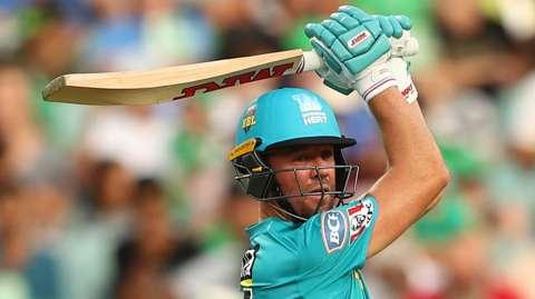 South Africa's AB de Villiers in action for Australian side Brisbane Heat