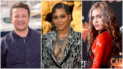 Jamie Oliver, Beyonce and Grimes