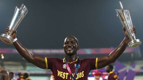 Darren Sammy after winning the 2016 T20 World Cup