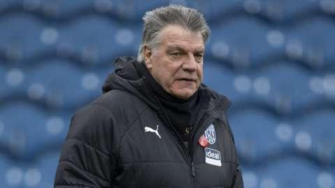 West Brom head coach Sam Allardyce
